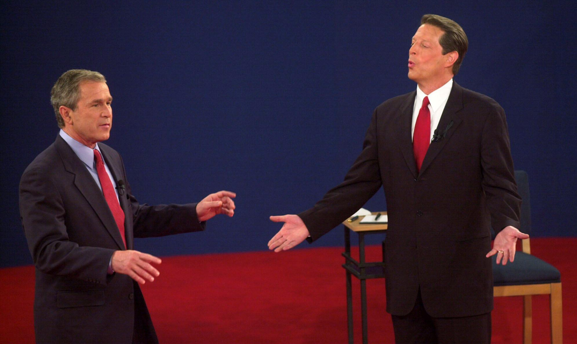 a comparison of the two governor seat candidates of texas george bush and al gore Compare us presidents: bill clinton vs george w bush view the presidents' foreign and domestic accomplishments, political backgrounds, and more.