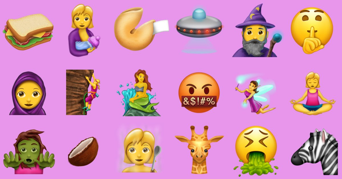 Here Are All 56 New Emojis Coming This Year!