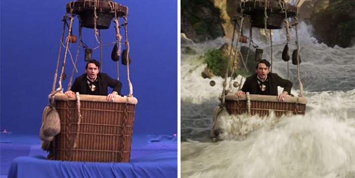 33 Before And After Images That Prove Hollywood Magic Is All In The Green Screen