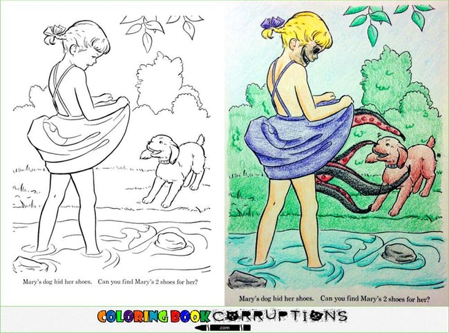 54 Coloring Book Corruptions That Will Taint Your Childhood