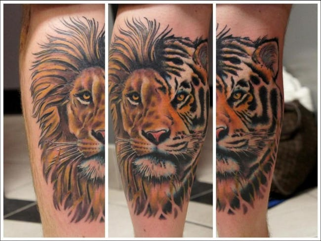 Calf Tattoos and Designs