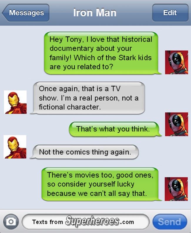 The Best Texts from Superheroes