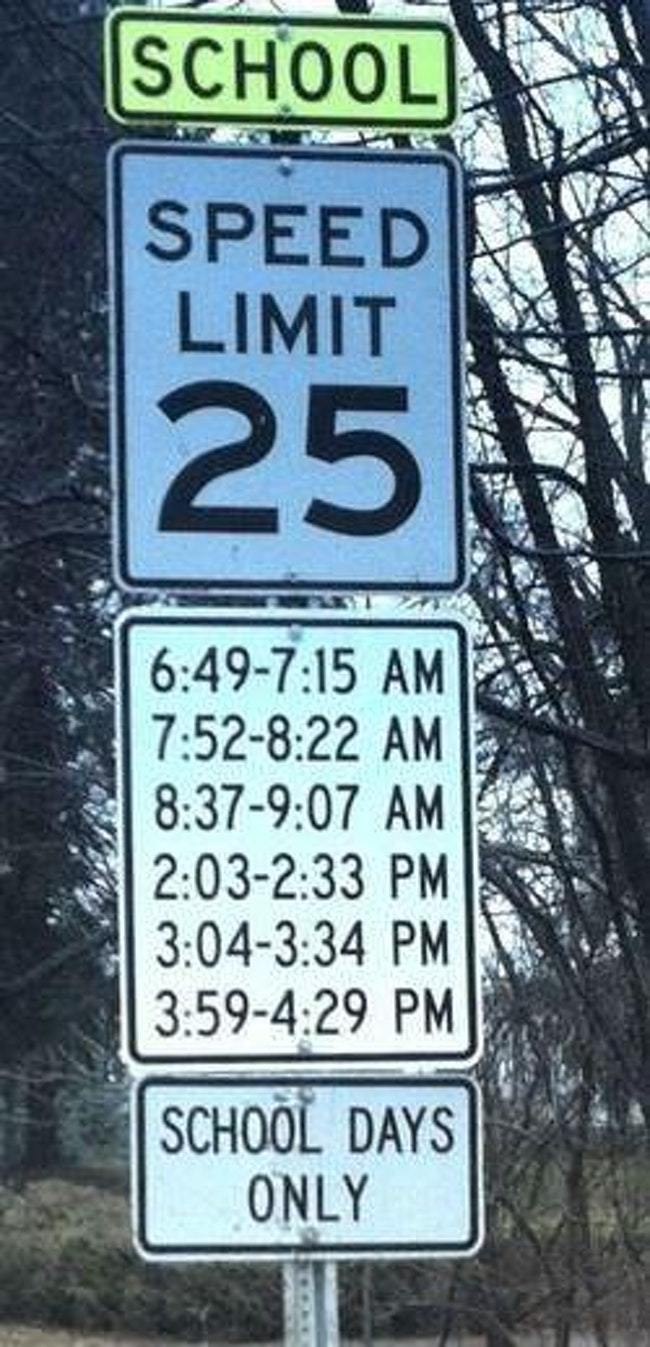 The 20 Most Confusing Road Signs Ever