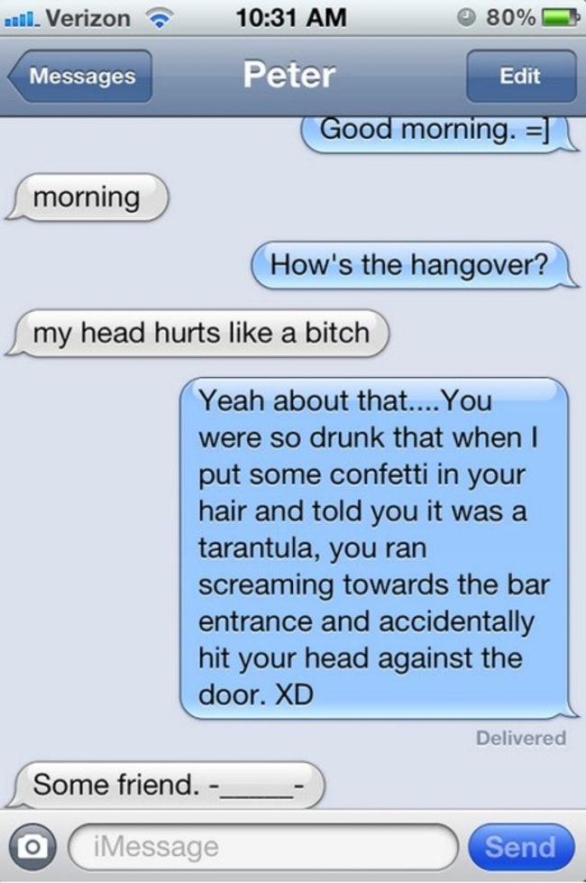 25 Amazing and Terrifying Morning After Texts