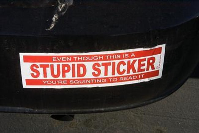 The 25 Funniest Bumper Stickers on the Road